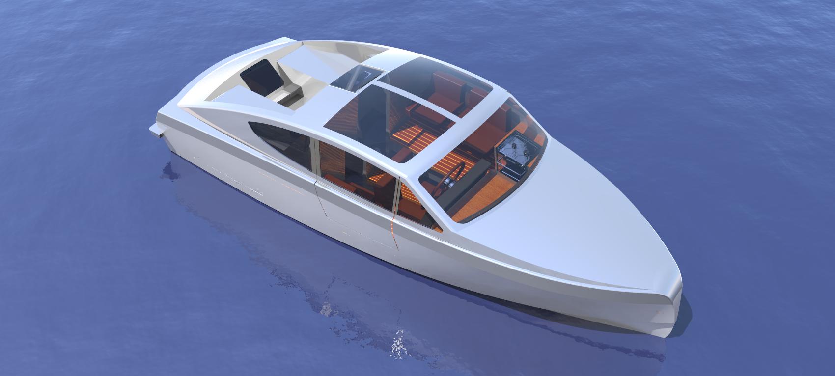 Exterior Korvet 8 Design Process Deep Water Aluminium Boat | Holland Boat