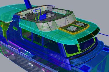 Roof construction Korvet aluminium motor yacht