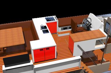 Korvet 18TE pilothouse A