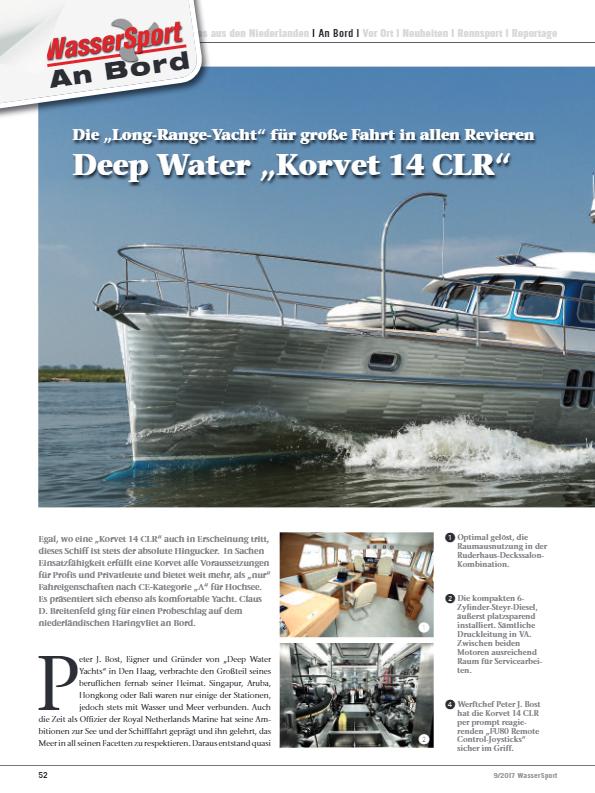 Long Range Yacht fur grose Fahrt Deep Water Korvet 14CLR