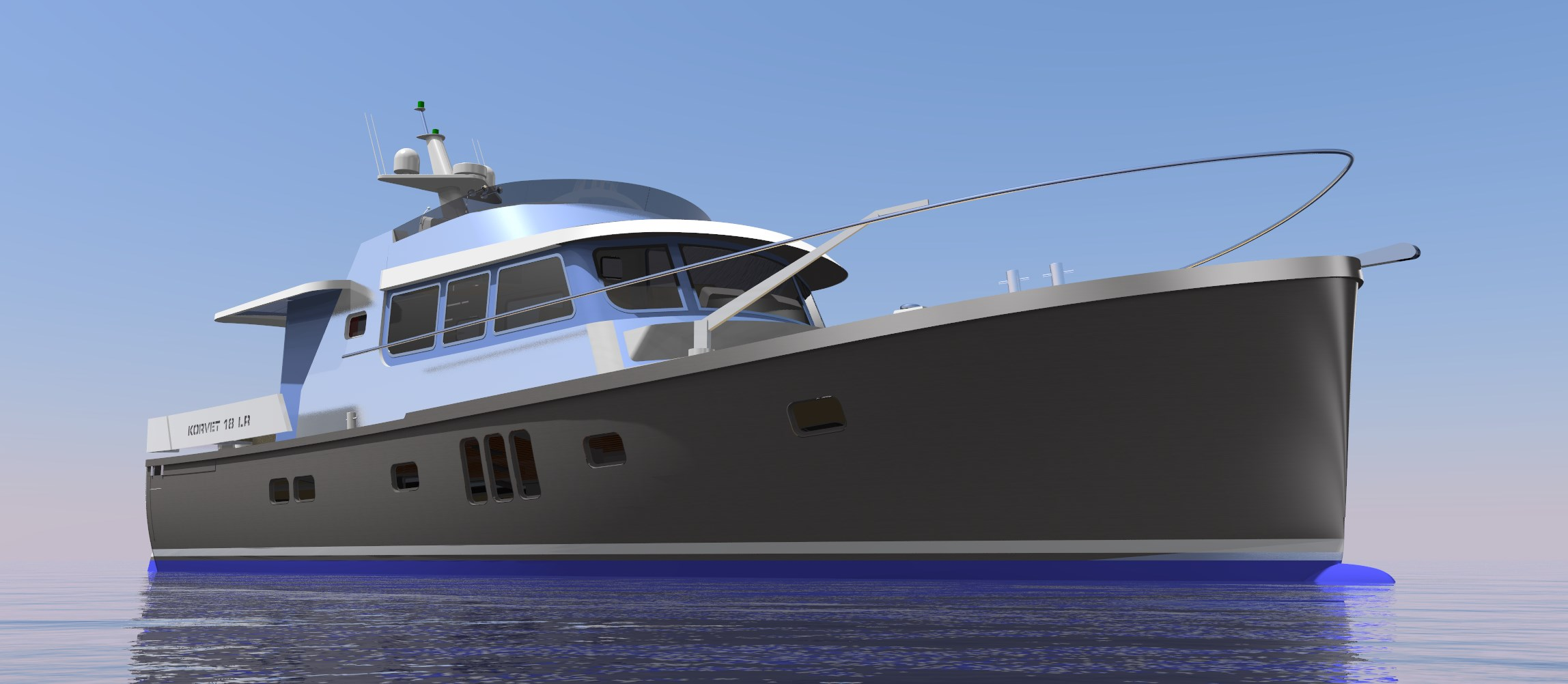 18 meter motor yacht aluminium