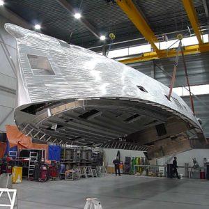 Aluminium motorboat