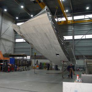 Aluminium motor yacht